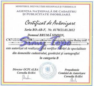 Certificat de autorizare